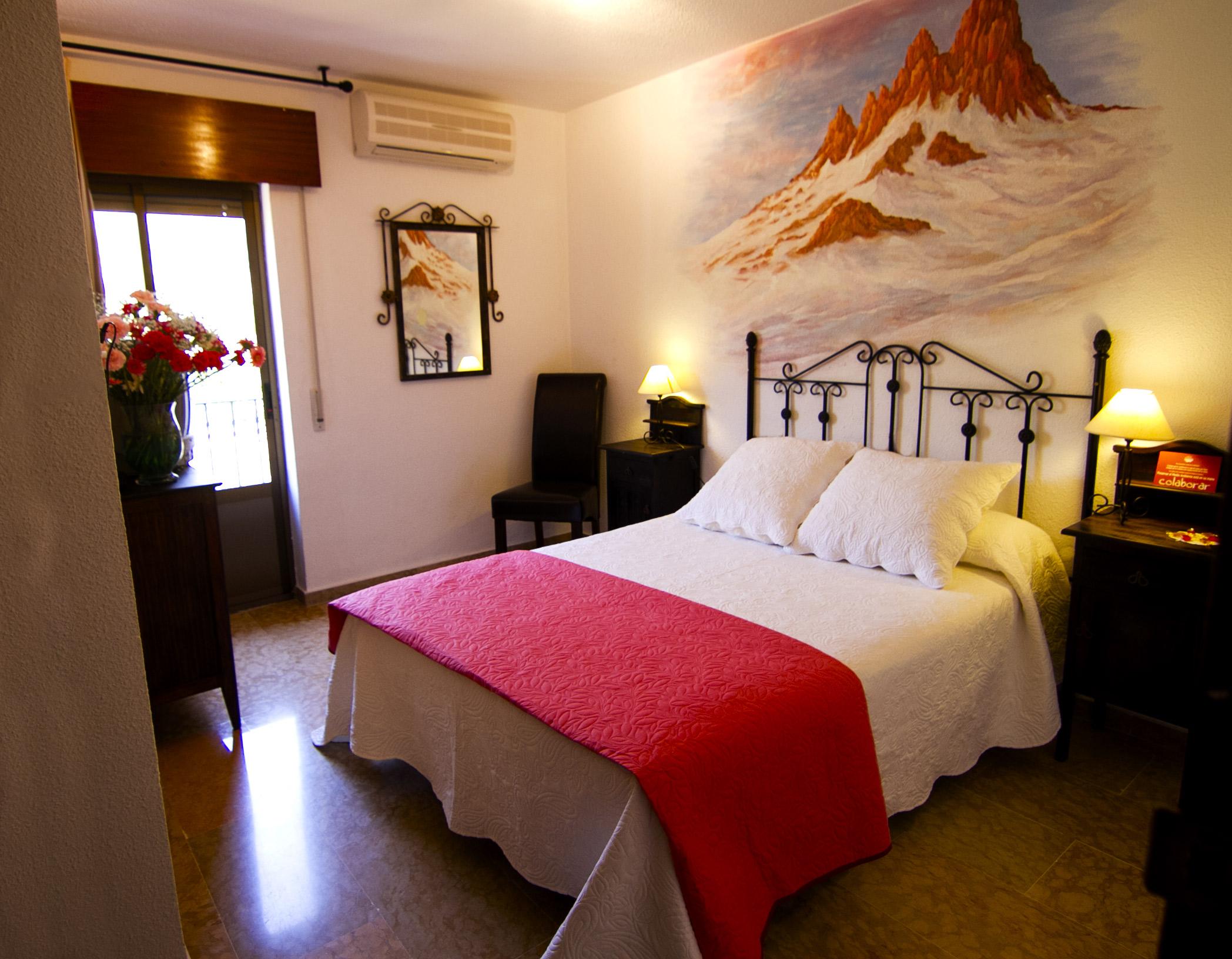 Habitación doble en Hotel Puerta Nazarí en Órgiva, Alpujarra Granada
